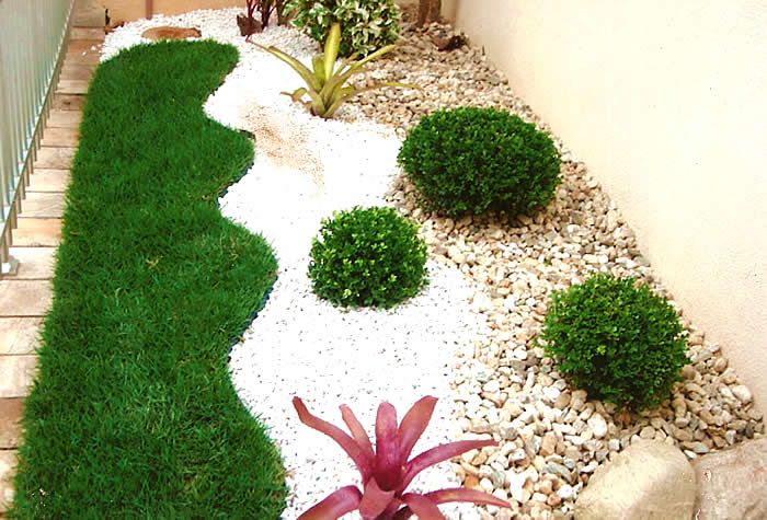 jardim no quintal fotos:Garden Design Ideas with Pebbles